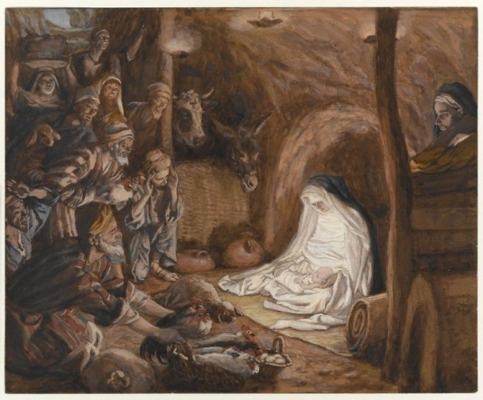 Tissot. Rise Of A Star 06. The Adoration of the Shepherds. James Tissot.