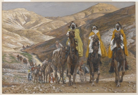 Tissot. Rise Of A Star 07. Three Magician Priests journeying from the East. James Tissot.
