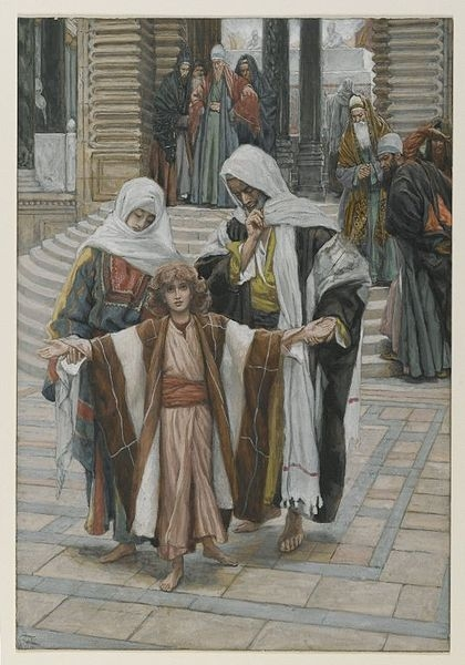Tissot. Rise Of A Star 13. Jesus Found in the Temple. James Tissot.