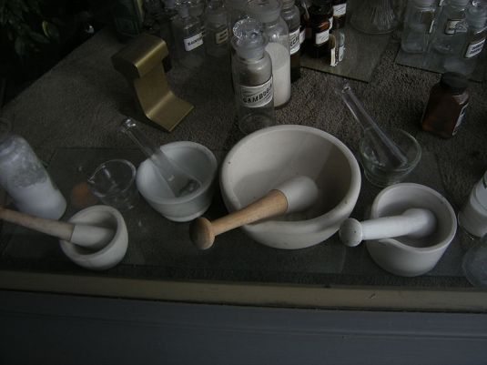 Doctors Practice P S Remesh 09 When there were no health industries. Joe Mabel Ceramic mortars and pestles.