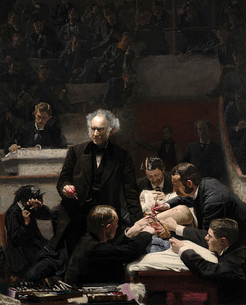 Doctors Practice P S Remesh 11 Dr. Samuel D. Gross lecturing in amphitheatre. Thomas Eakins 1875 Phila Museum of Art.