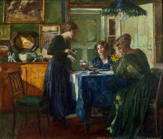 Owen Send Off 02 Pre war breakfast. Ferdinand Max Bredt 1918.