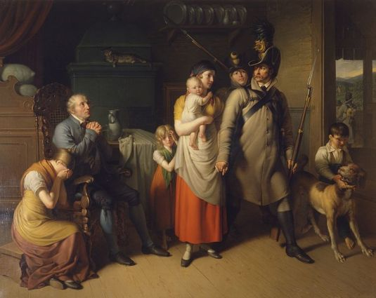 Owen Send Off 03 Going to war. Johann Peter Krafft 1813.