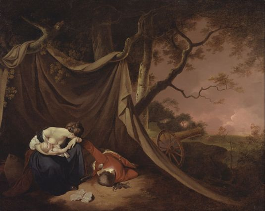 Owen Send Off 11 The Dead Soldier. Joseph Wright of Derby 1789.