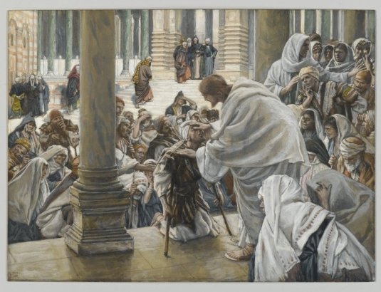 Tissot. The Healing Artist 01. He Heals the Lame. James Tissot. 1886-1894
