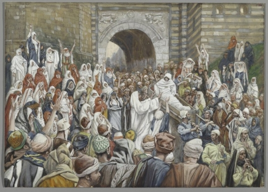 Tissot. The Healing Artist 02. The Resurrection of the Widow's Son at Nain