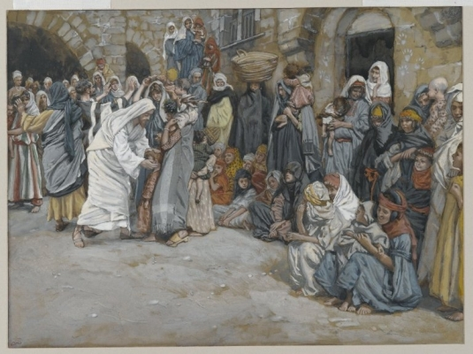 Tissot. The Healing Artist 05. Suffer the Little Children to Come unto Me