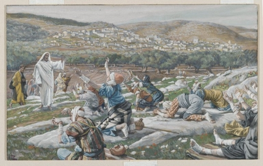 Tissot. The Healing Artist 06. The Healing of Ten Lepers