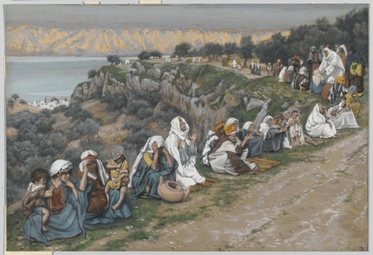 Tissot. The Healing Artist 07. The Sick Awaiting the Passage of Jesus