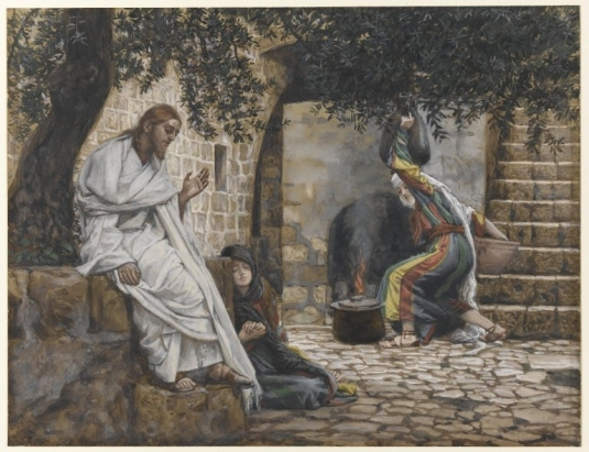 Tissot. The Healing Artist 09. Mary Magdalene at the Feet of Jesus