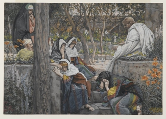 Tissot. The Healing Artist 10. Jesus, Mary Magdalene, and Martha at Bethany