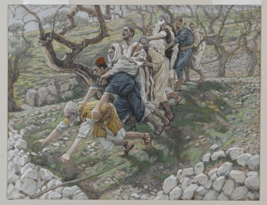 Tissot. The Healing Artist 11. The Blind in the Ditch